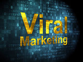 Advertising concept: Viral Marketing on digital background — Fotografia Stock