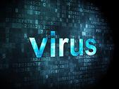 Security concept: Virus on digital background — Zdjęcie stockowe