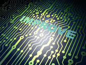 Business concept: circuit board with Improve — Stock Photo