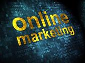 Online Marketing on digital background — Stock Photo