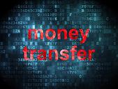 Concepto de finanzas: transferencia de dinero en el fondo digital — Foto de Stock