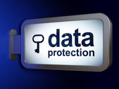 Privacy concept: Data Protection and Key on billboard background — Stock Photo
