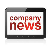 Company News on tablet pc computer — Stock Photo