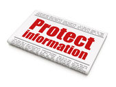 Security news concept: newspaper headline Protect Information — Foto Stock