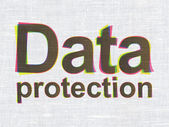 Security concept: Data Protection on fabric texture background — Stock Photo