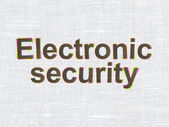 Safety concept: Electronic Security on fabric texture background — Stock fotografie