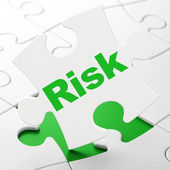 Finance concept: Risk on puzzle background — Photo