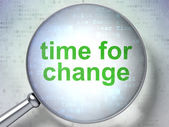 Time for Change with optical glass — Stock Photo