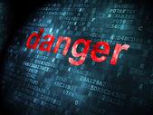Koncepcja bezpieczeństwa: niebezpieczeństwo na tle cyfrowy — Zdjęcie stockowe