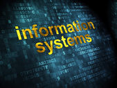 Data concept: Information Systems on digital background — Stock Photo