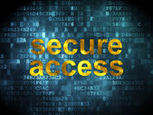 Privacy concept: Secure Access on digital background — Foto Stock