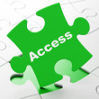 Safety concept: Access on puzzle background — Stock Photo