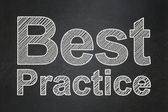 Education concept: Best Practice on chalkboard background — 图库照片