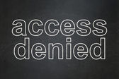 Safety concept: Access Denied on chalkboard background — Stock Photo
