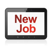 Business concept: New Job on tablet pc computer — Stock Photo