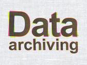 Conceito de informações: dados de arquivamento em fundo de textura de tecido — Fotografia Stock