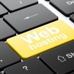 Web design concept: Web Hosting on computer keyboard background — Stock Photo