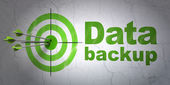 Information concept: target and Data Backup on wall background — Stock Photo