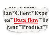 Data concept: Data Flow on Paper background — Stock Photo