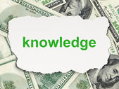 Education concept: Knowledge on Money background — Stockfoto