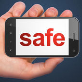 Security concept: Safe on smartphone — Stock Photo