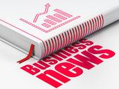 News concept: book Growth Graph, Business News on white background — Stock Photo
