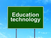 Education concept: Education Technology on road sign background — Stockfoto
