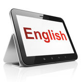 Education concept: English on tablet pc computer — Stock Photo