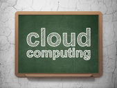 Cloud computing concept: Cloud Computing on chalkboard background — Stock Photo