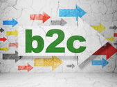 Finance concept: arrow with B2c on grunge wall background — Stock Photo