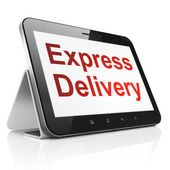 Finance concept: Express Delivery on tablet pc computer — Stock Photo