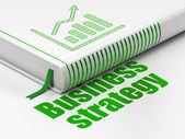 Business concept: book Growth Graph, Business Strategy on white background — Foto de Stock