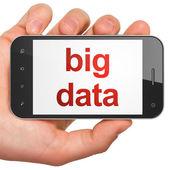 Concepto de información: grandes datos sobre smartphone — Foto de Stock