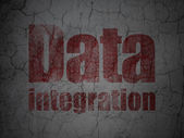 Information concept: Data Integration on grunge wall background — 图库照片