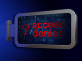 Security concept: Access Denied and Key on billboard background — Foto de Stock