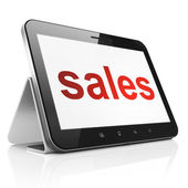 Marketing concept: Sales on tablet pc computer — Stock Photo