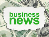 News concept: Business News on Money background — Stock Photo