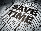 Timeline concept: circuit board with Save Time — Stock Photo