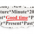 Time concept: Good Time on Paper background — Stock Photo #45094049