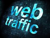 SEO web development concept: Web Traffic on digital background — Stok fotoğraf
