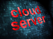 Cloud networking concept: Cloud Server on digital background — 图库照片