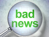News concept: Bad News with optical glass — Foto Stock