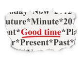 Time concept: Good Time on Paper background — Stok fotoğraf