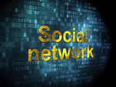 Social network concept: Social Network on digital background — Stock Photo