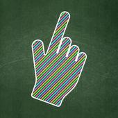 Web design concept: Mouse Cursor on chalkboard background — Stock Photo