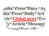 News concept: Global News on Paper background — Stock Photo
