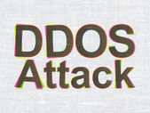 Security concept: DDOS Attack on fabric texture background — Stock Photo