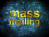 Marketing concept: Mass Mailing on digital background — Стоковое фото