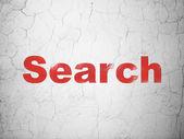Web デザイン コンセプト: 壁の背景上で検索 — ストック写真