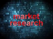 рекламная концепция: исследование рынка на фоне цифровой — Стоковое фото
